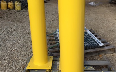 A Steel Bollard Protects Structures and Pedestrians