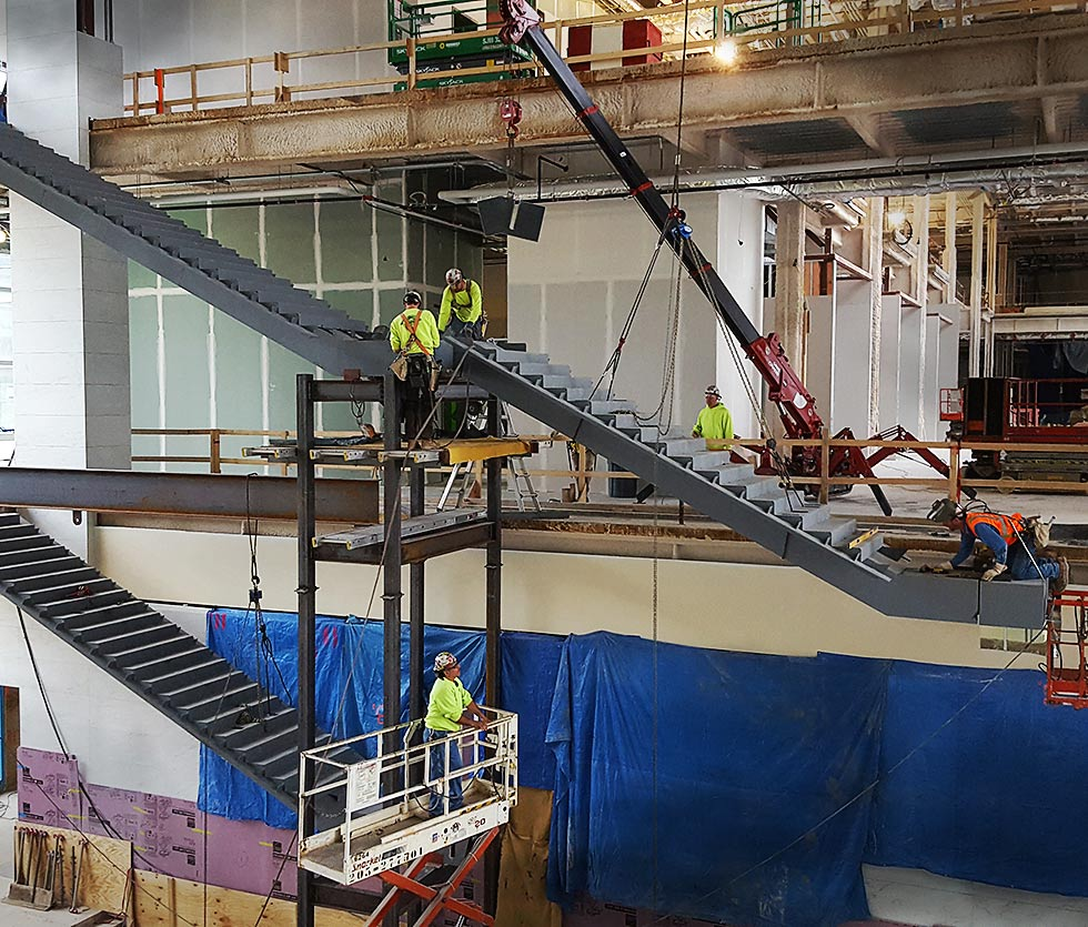 metal fabrication steel stairs installation