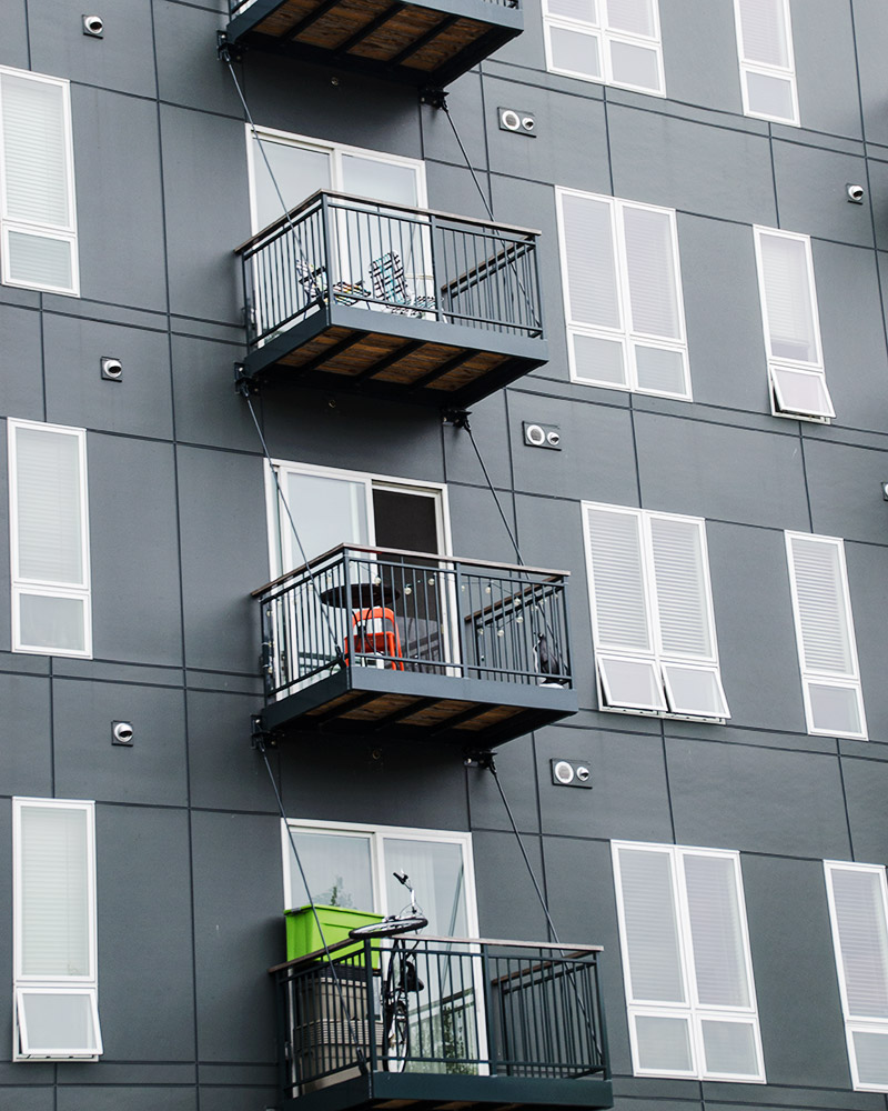 prefabricated aluminum balcony system - two colors