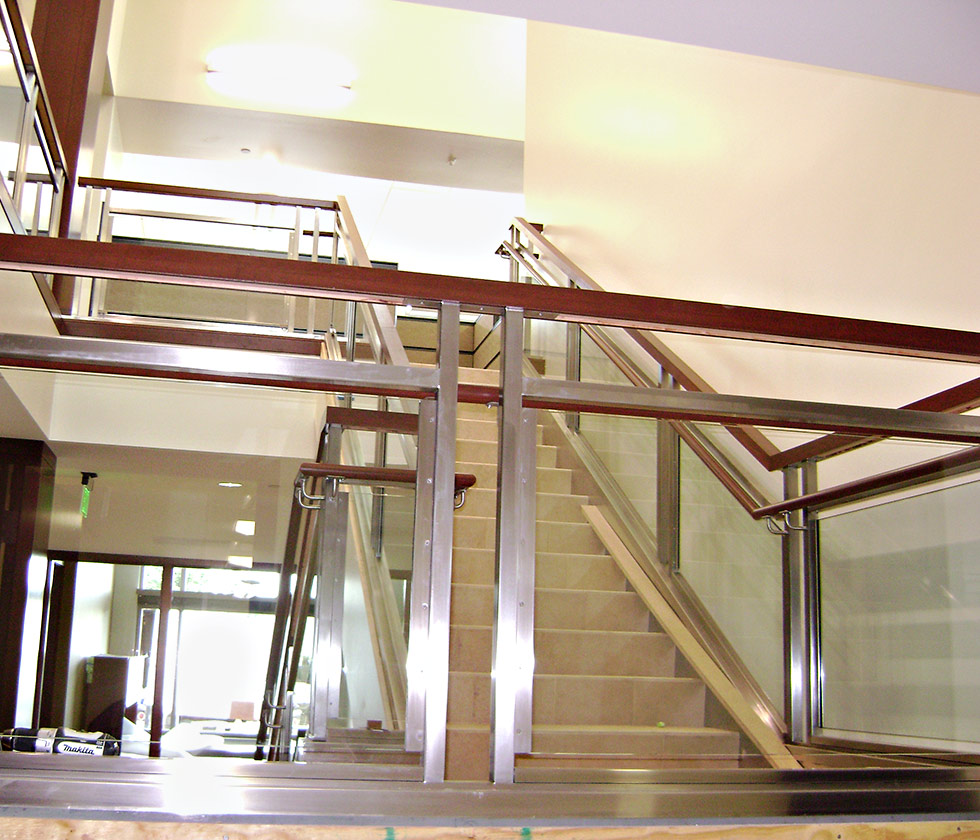 Metal railing systems custom fabricated