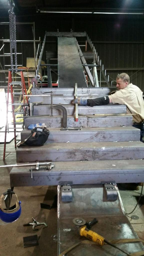 Egress Steel Stair Fabrication