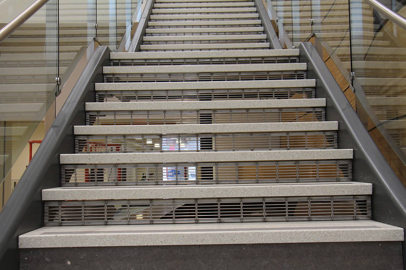 egress stainless steel stair riser
