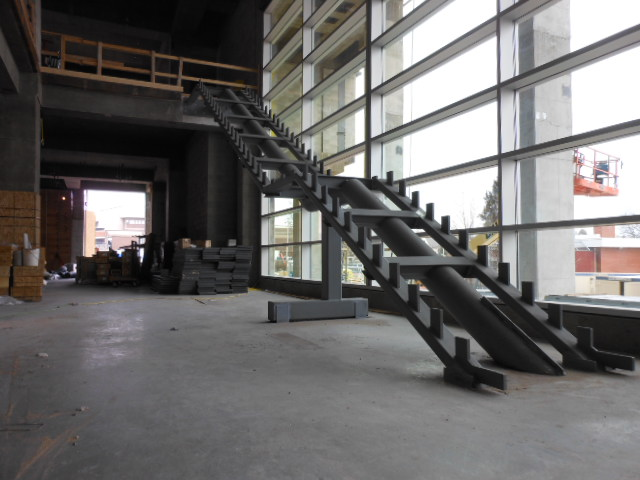 prefab steel egress stairs
