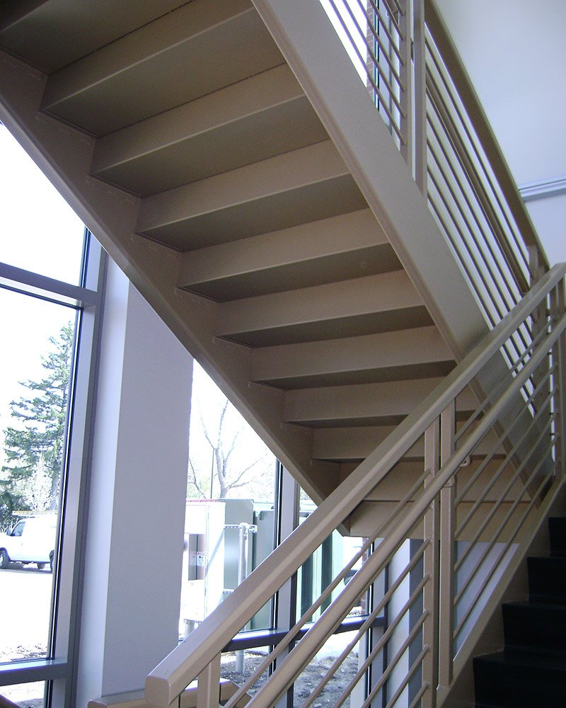 steel egress stairs