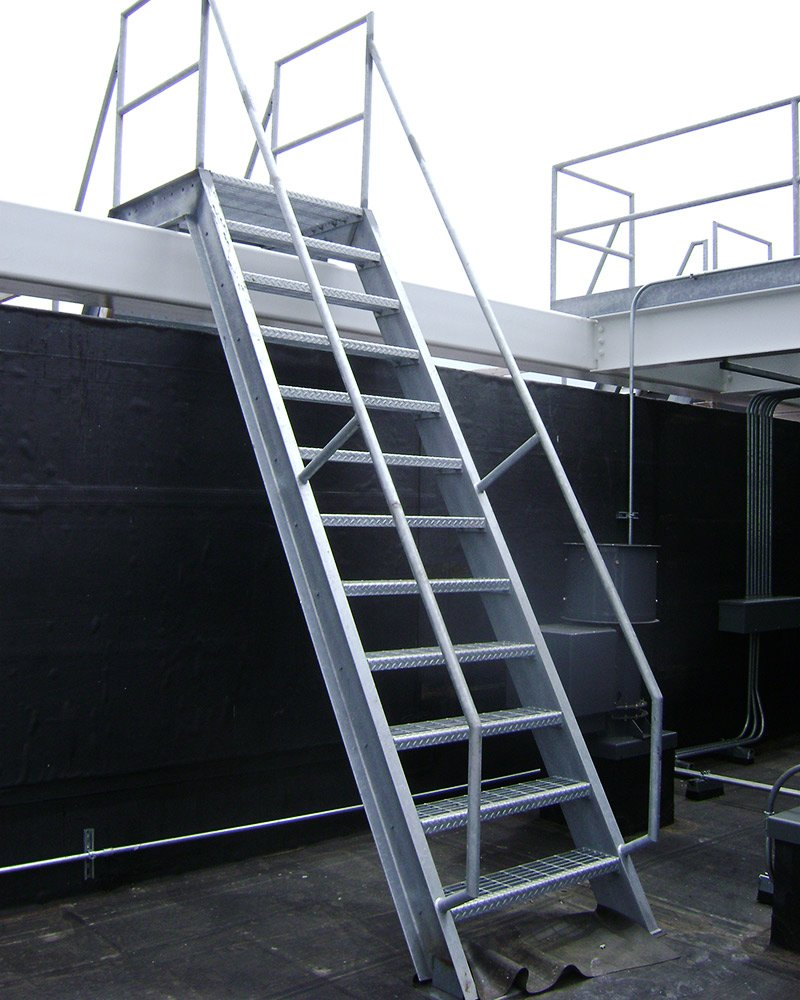 steel stairs - access ladder