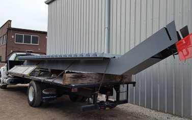 steel stairs - installation of large sections
