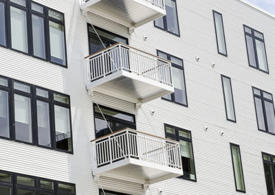 white aluminum prefab balcony-North End7723LR